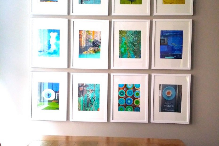 12 frame ribba gallery wall 8x10 photos in white 12x16