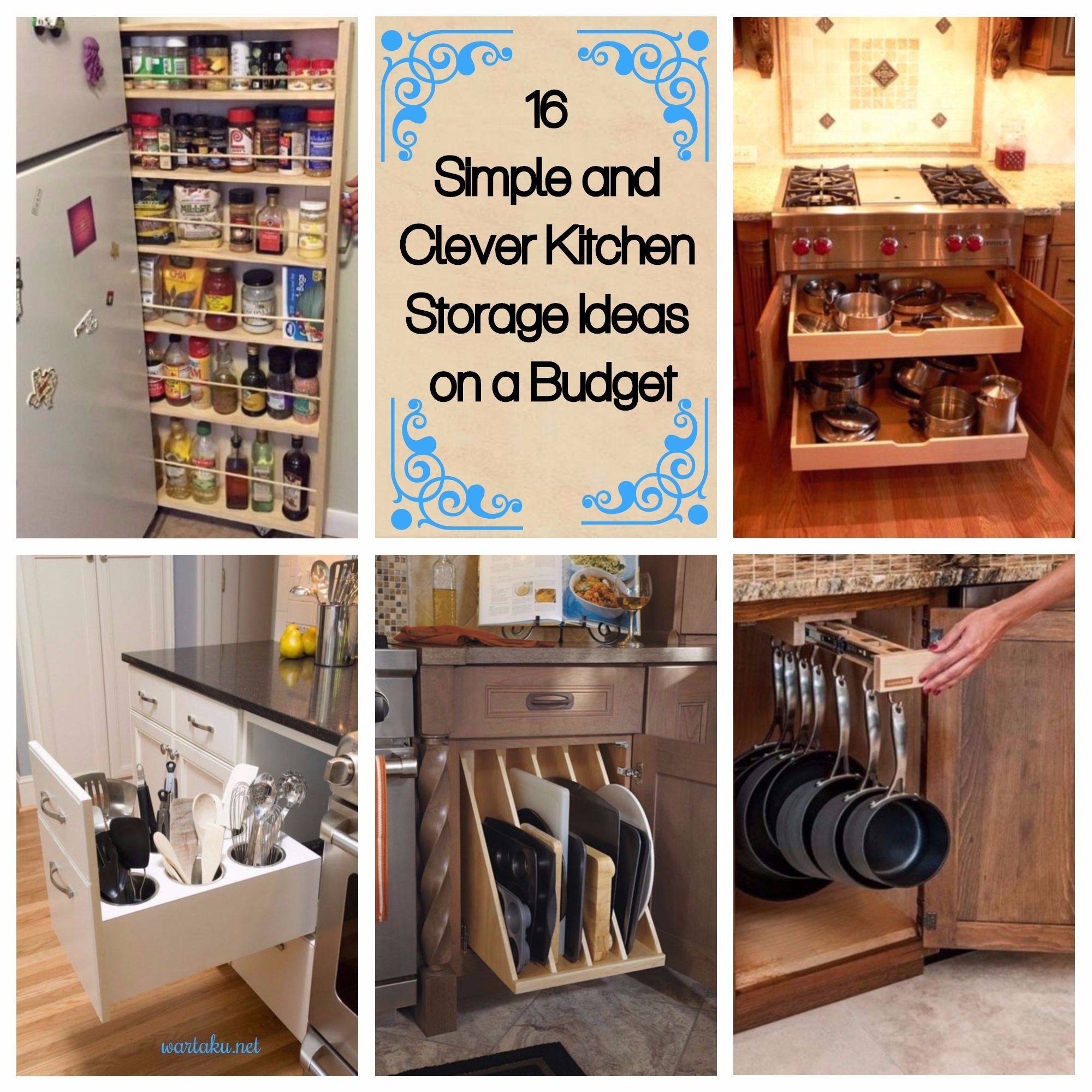16 simple and clever kitchen storage ideas on a budget wartaku