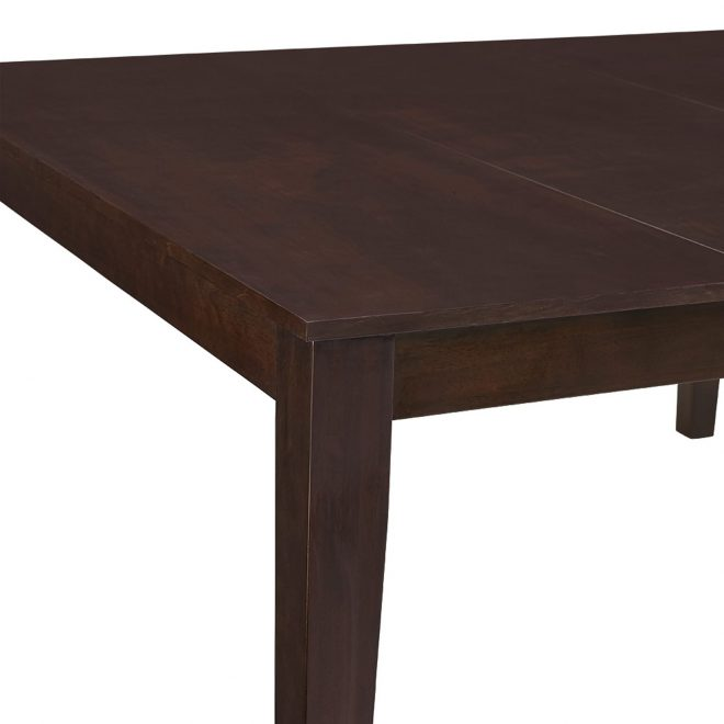 60 inch cappuccino wood square dining table walker edison