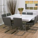 8 seater square glass dining table doces abobrinhas in