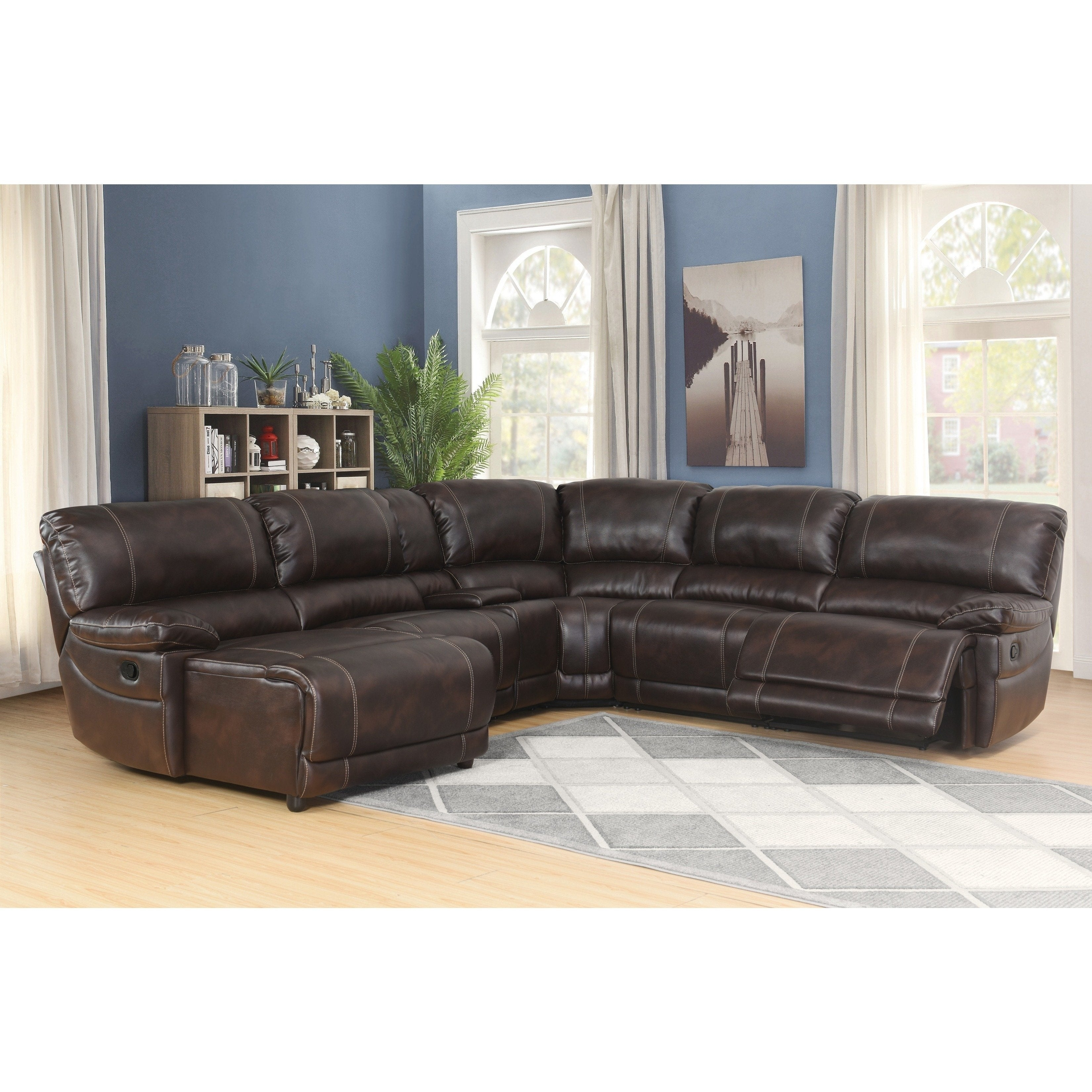 abson cooper 6 piece dark brown sectional sofa