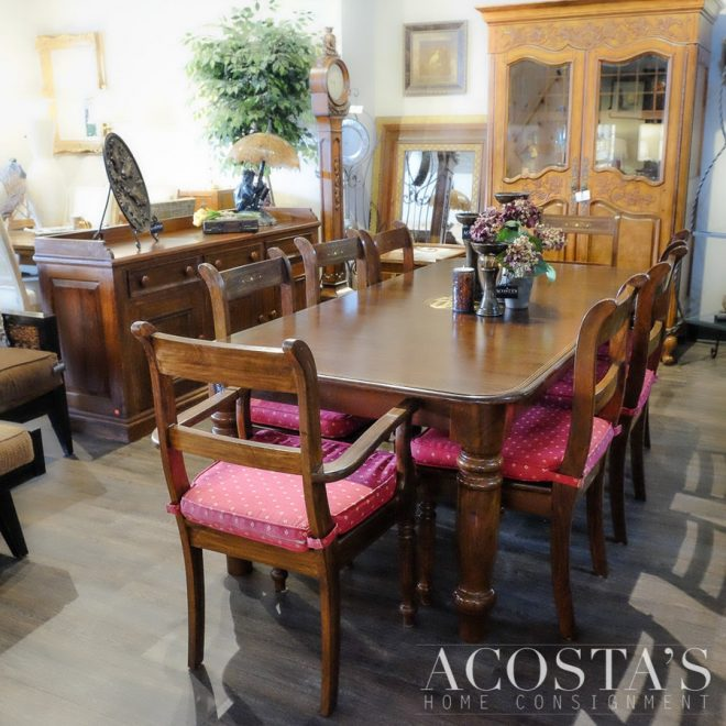 acostas home consignment orig price 4000 dining set table