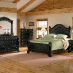 american woodcrafters heirloom collection poster bedroom set in black with rub through highlights 2900 posterb