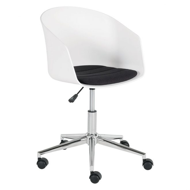 atwood white office chair with upholstered seat buy now at habitat uk