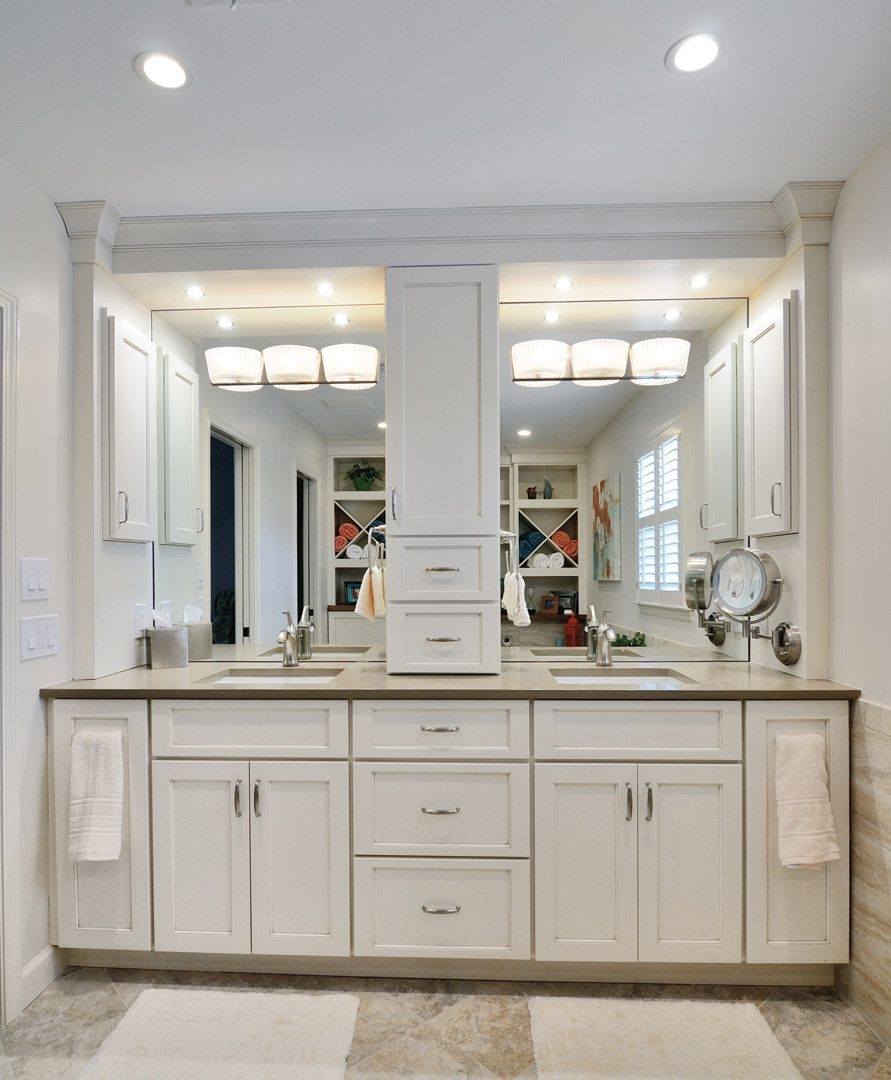 bathroom cabinets with center storage tower google search for