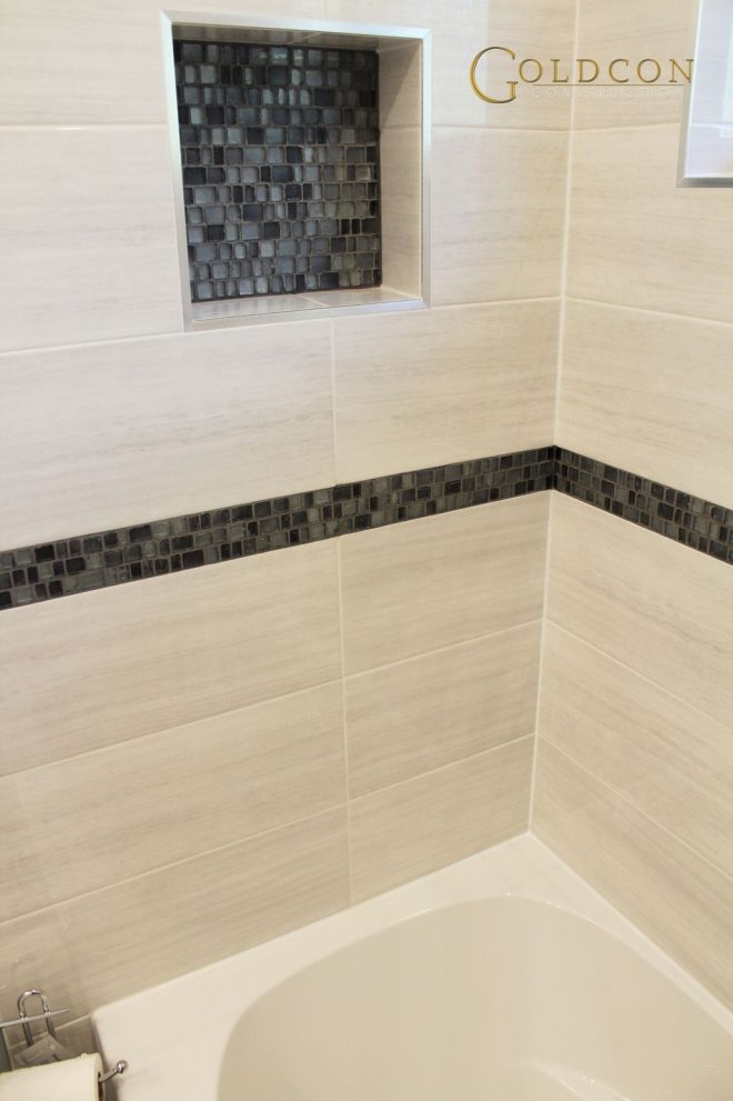 beautiful bathroom renovation project featuring 8 x 20