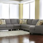 benchcraft chamberly alloy modern 5 piece sectional sofa with