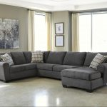 benchcraft sorenton contemporary 3 piece sectional with right chaise