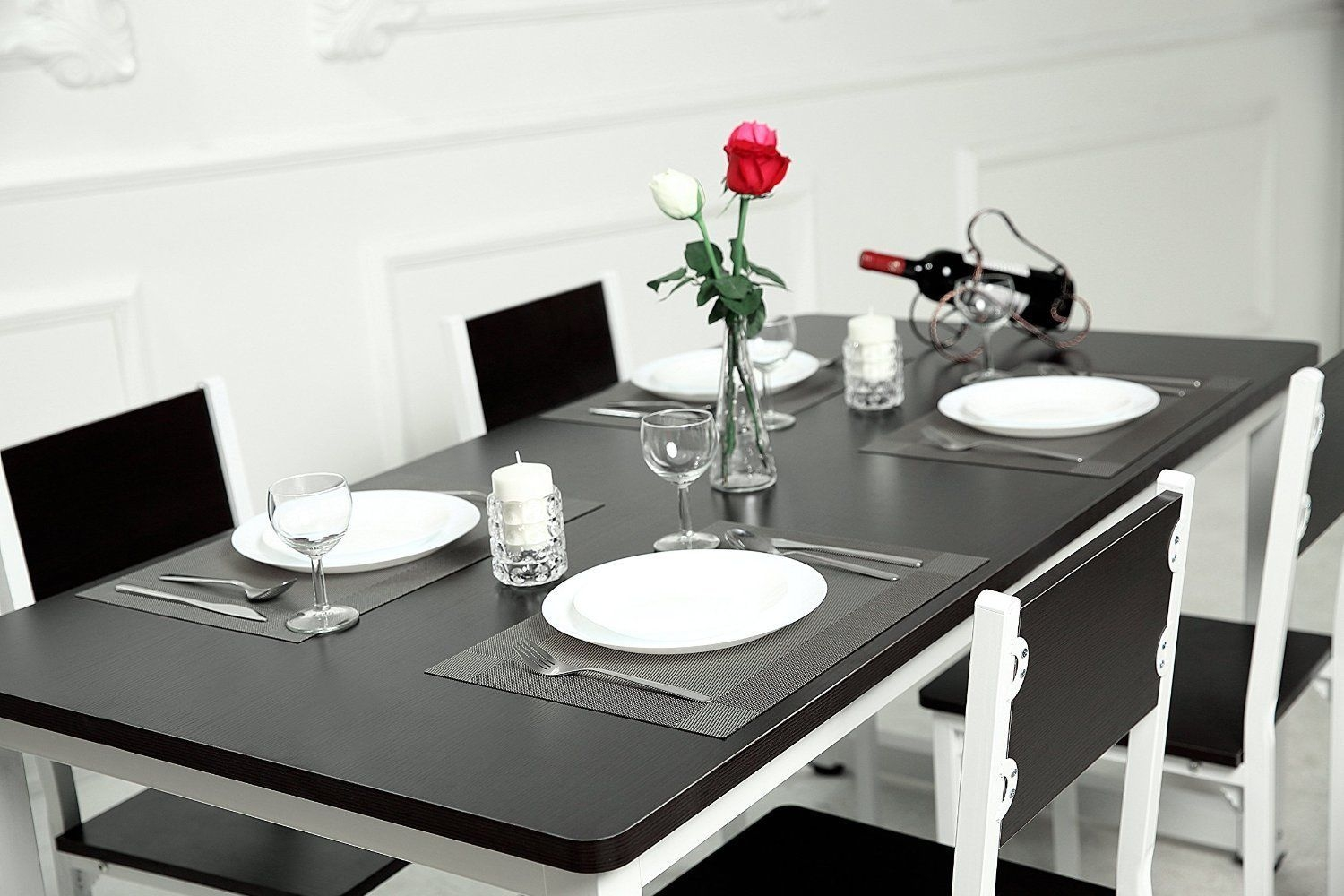 borlan vinyl placemats washable dining table mats heat resistant