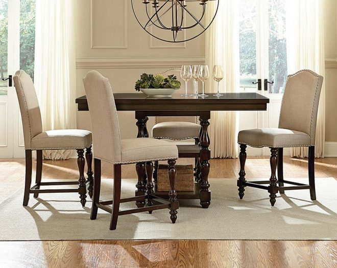 brown wood 5 piece counter height dining set american freight