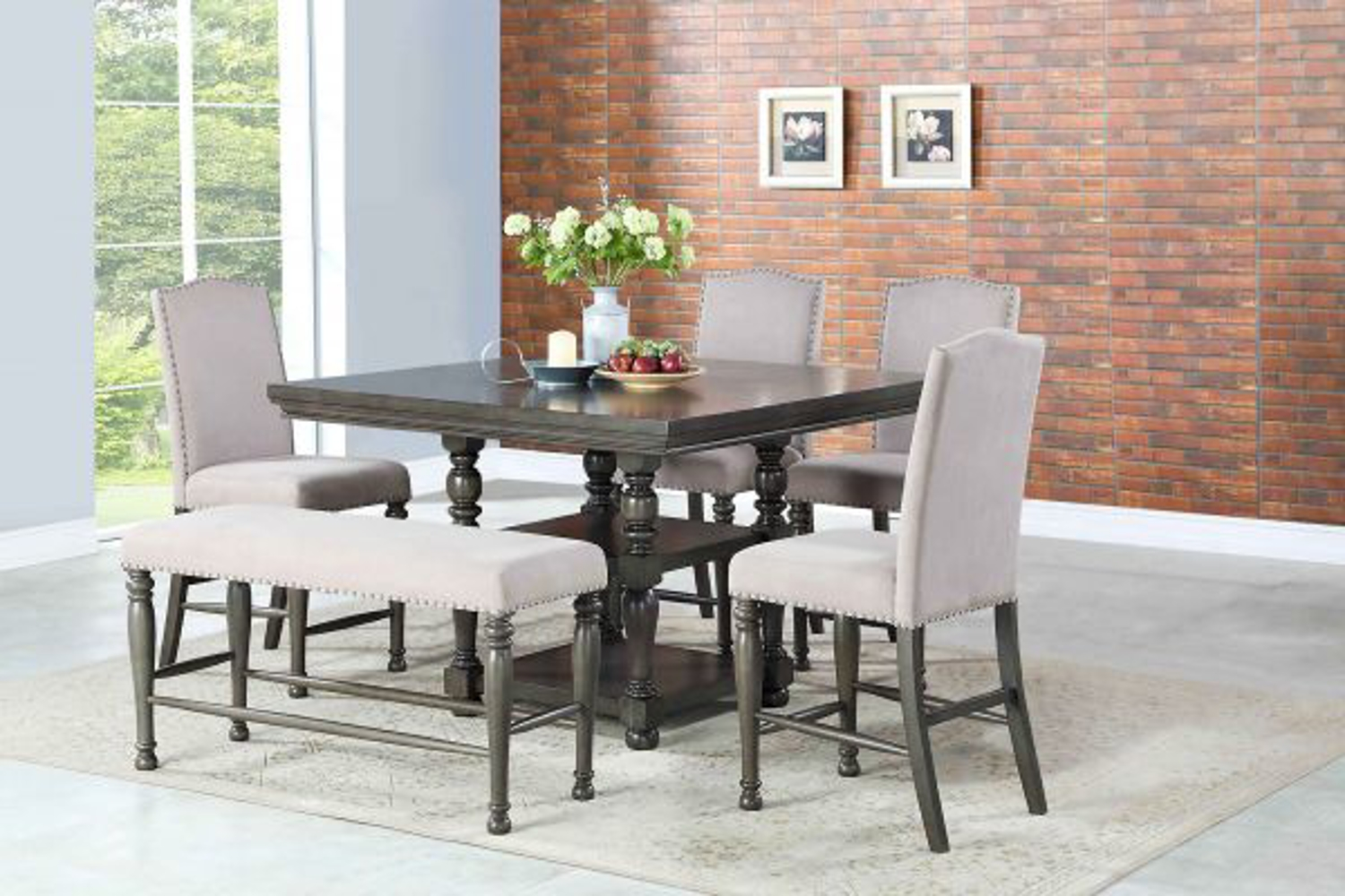 caswell eight piece counter height dining set