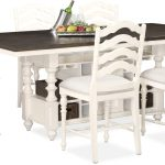 charleston counter height dining table and 6 stools white value