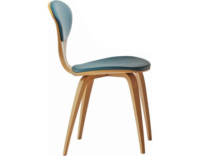cherner side chair with upholstered seat back hivemodern
