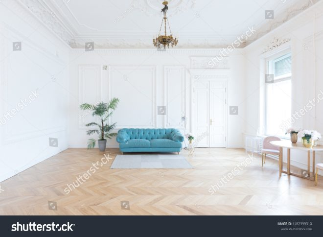chic spacious light room old mansion stock photo edit now