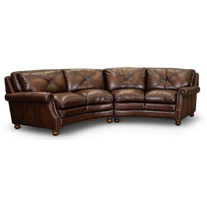 classic brown leather 2 piece sectional suffolk