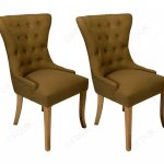 classic furniture lydia gold dining chair in pair