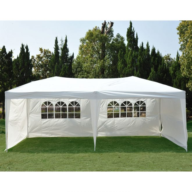 clevr 10x20 outdoor party canopy tent with 6 removable sidewalls gazebo