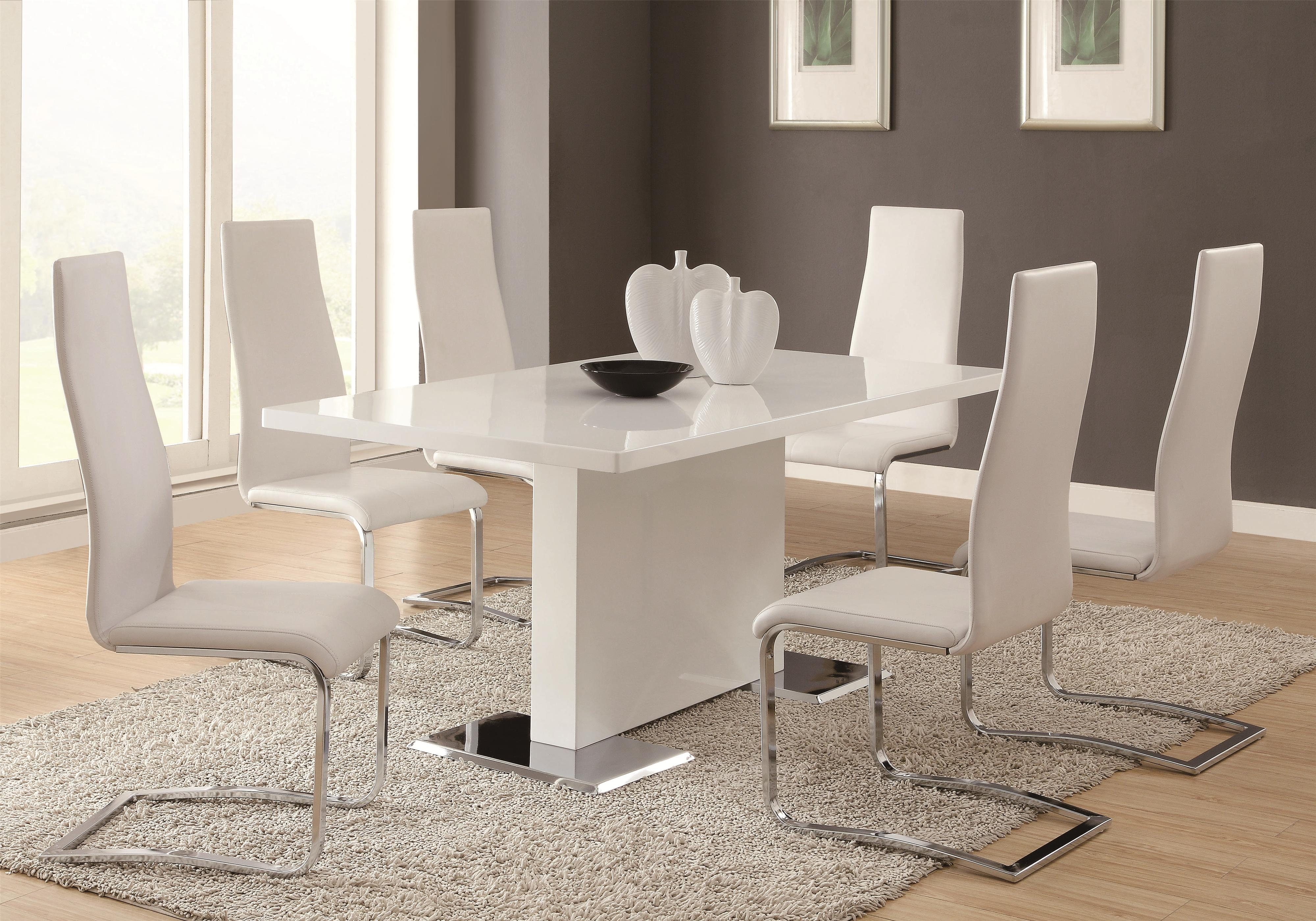coaster modern dining contemporary dining room set northeast