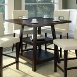 corliving bistro cappuccino 36 in counter height square dining
