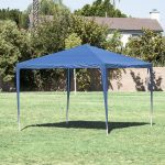 details about 10 20 30 outdoor party tent patio gazebo canopy wedding with side wall blue