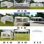 details about 10x10 10x20 10x30 heavy duty party tent canopy bbq wedding outdoor gazebo