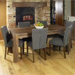 details about shiro walnut dark wood modern furniture large dining table and six chairs set