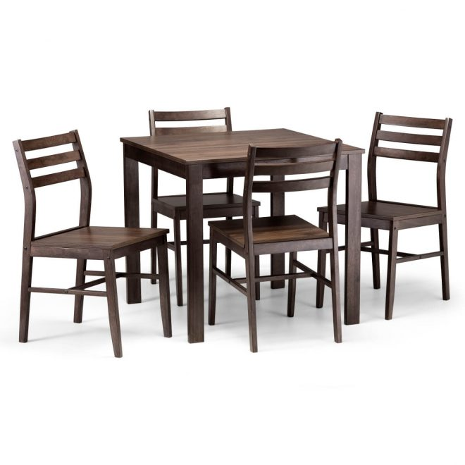 dining set monterey walnut dining table and 4 dining chairs mon301