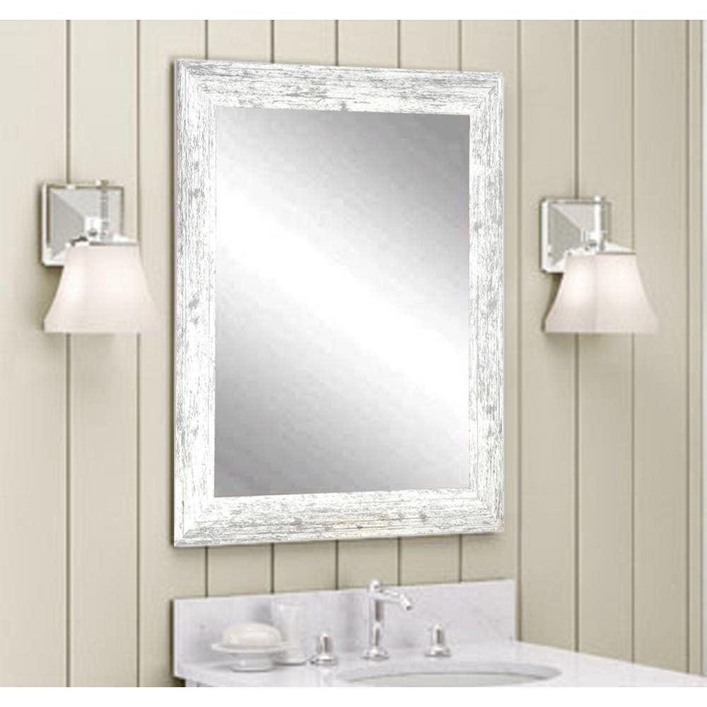 distressed decorative rectangle white wall mirror av32small the