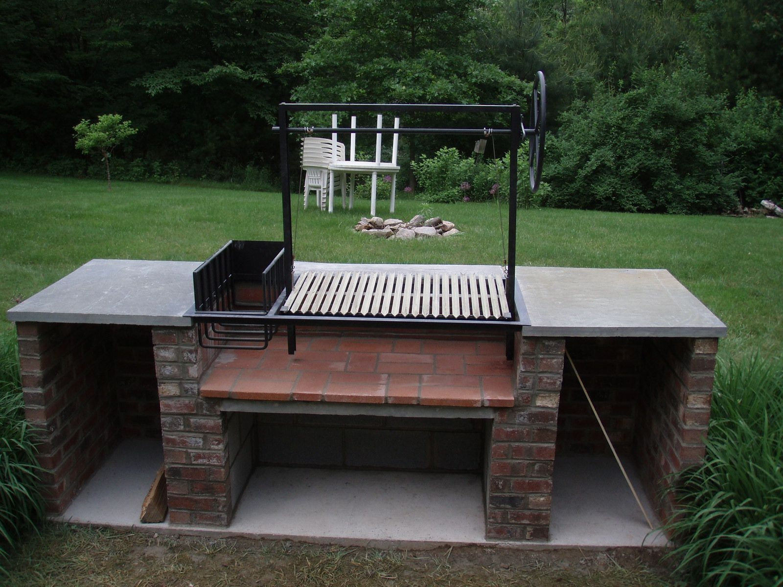 diy argentine grill plans home ideas outdoor cooking ...