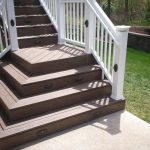 elevated deck with wide stair base in st louis st louis decks