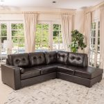 elisa 2 piece brown leather sectional sofa set christopher knight home