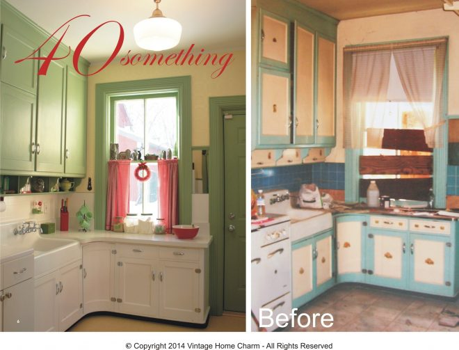 features similar to my own vintage kitchen vintage cottage style