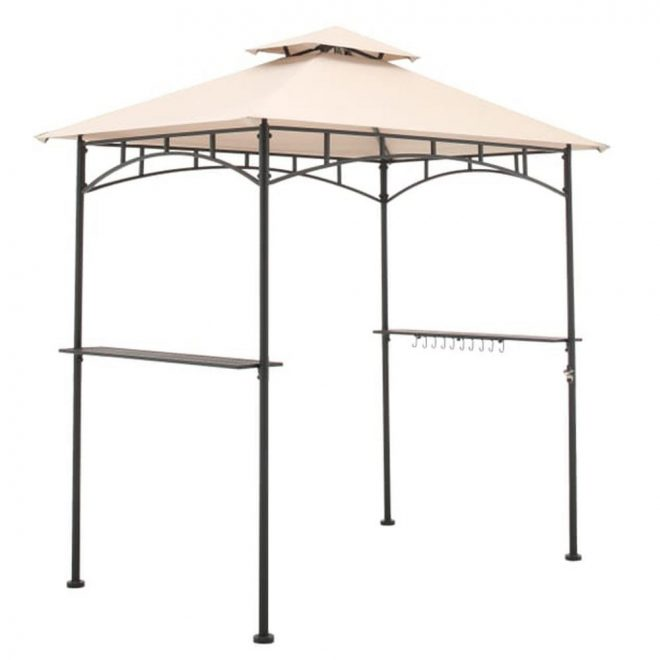garden winds replacement canopy in beige for heathermoore 8 ft x 5 ft grill gazebo