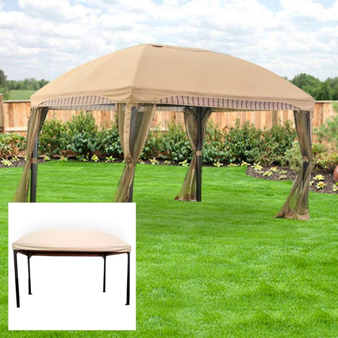 garden winds replacement canopy top for 13 x 10 domed gazebo