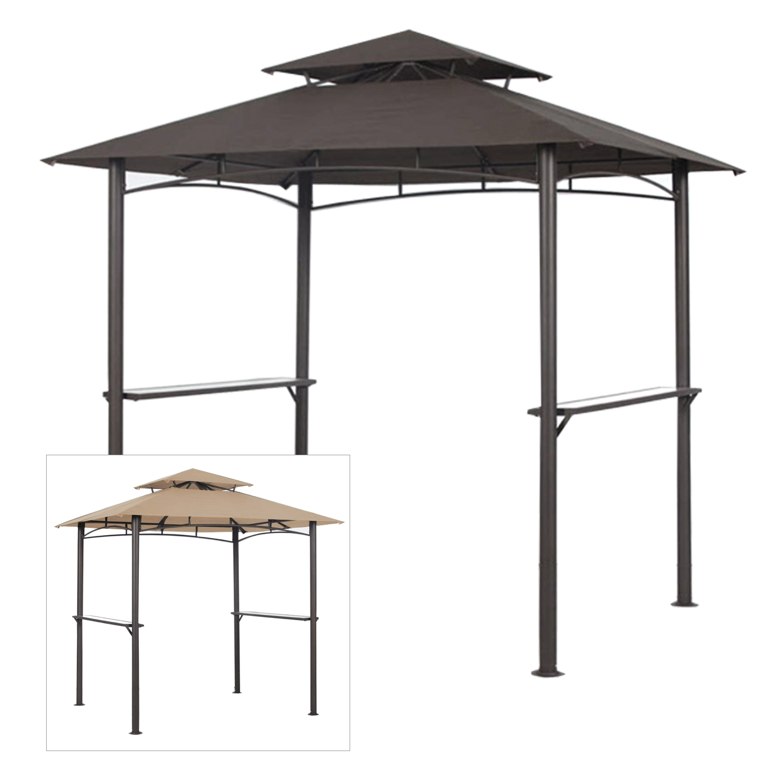 garden winds replacement canopy top for pacific casual bbq grill gazebo