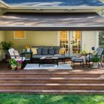 gorgeous retractable awning for your deck and patio design solair