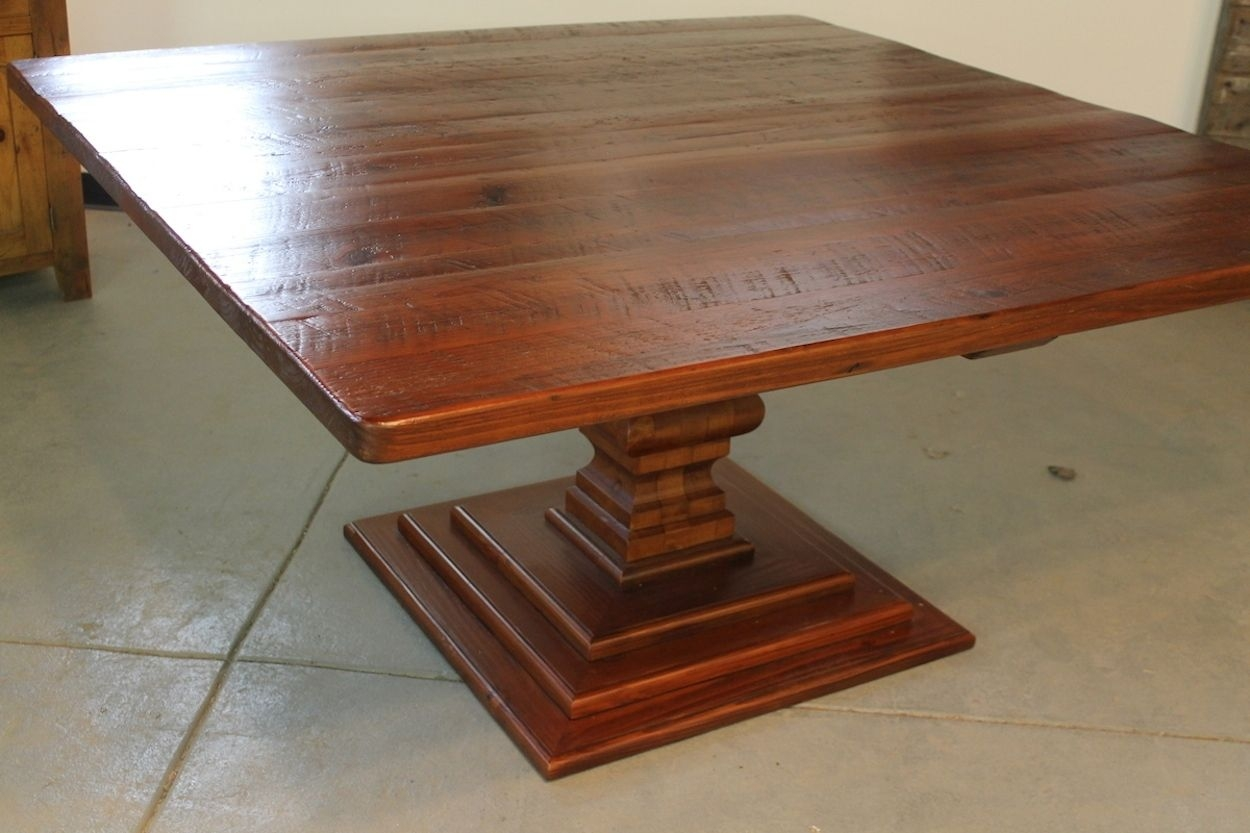hand made 72 square dining table ecustomfinishes reclaimed
