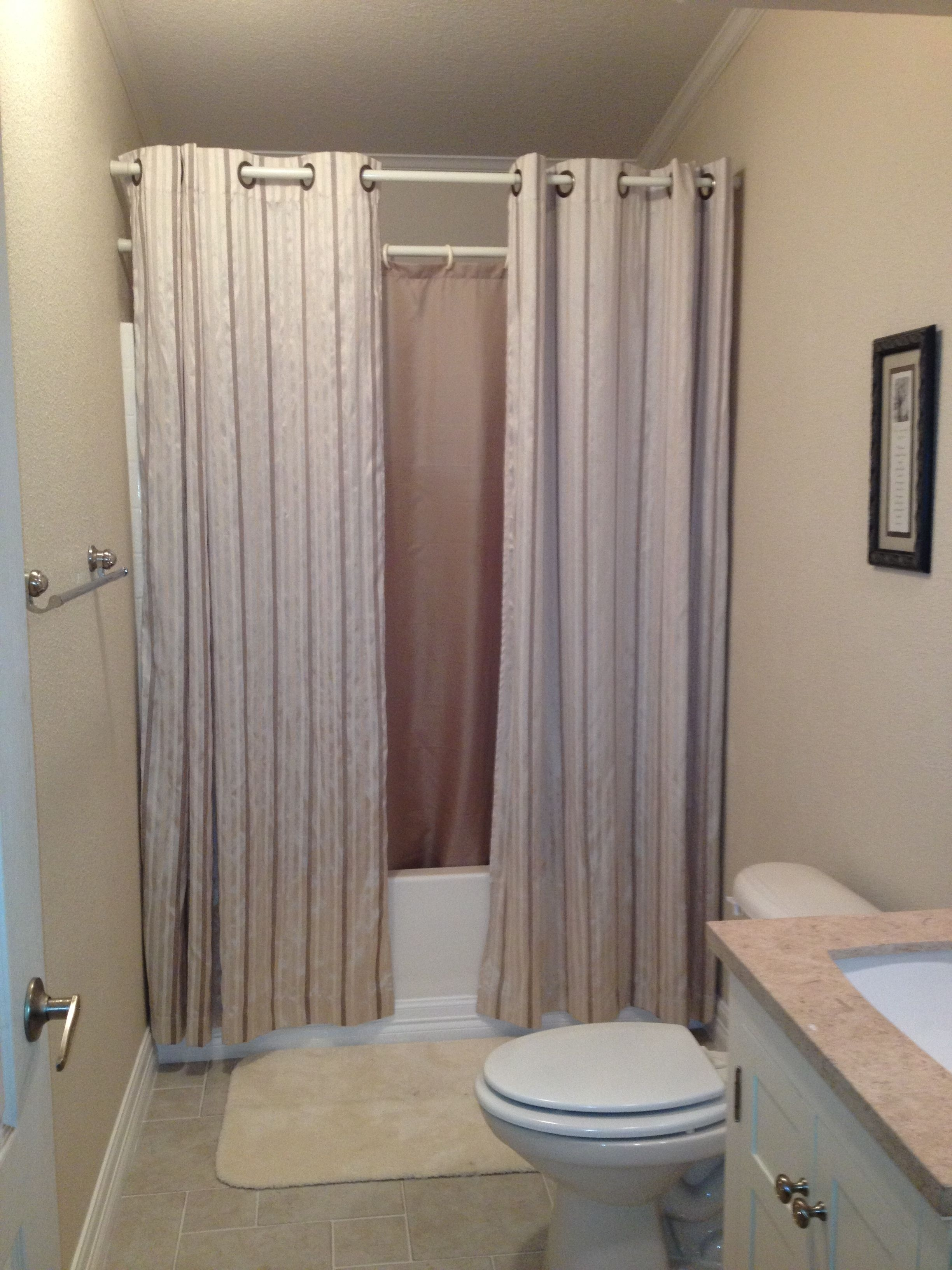 Small Bathroom Shower Curtain Or Glass Door Opnodes