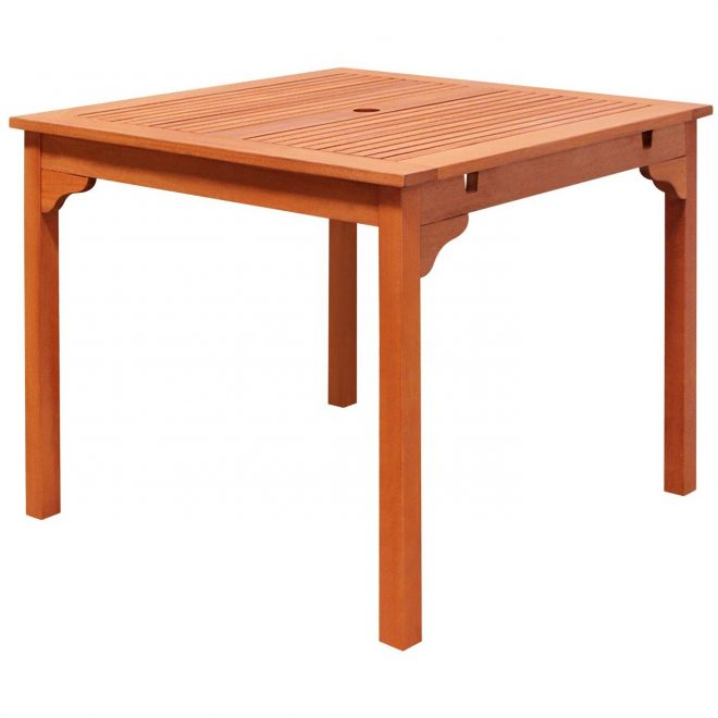 havenside home surfside outdoor eucalyptus wood stacking dining table