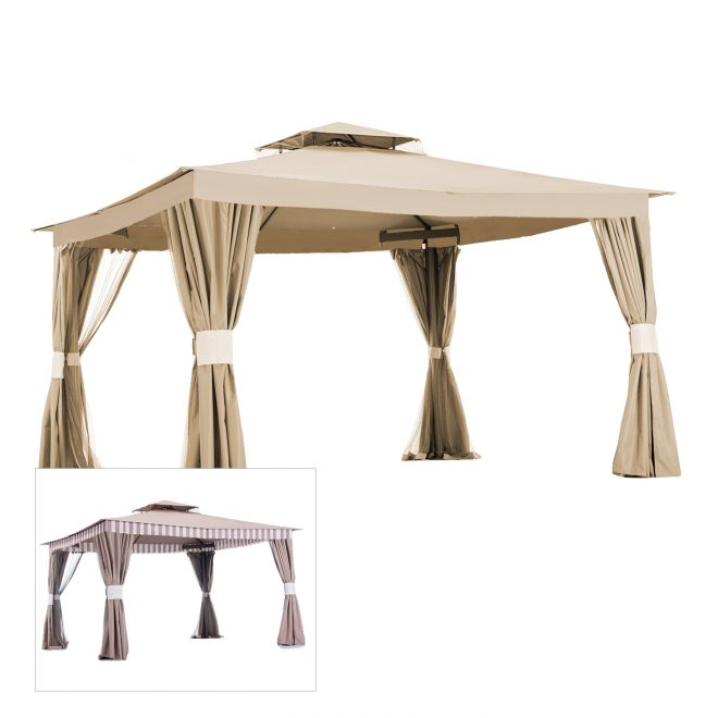 home depot gazebo replacement canopy cover garden winds