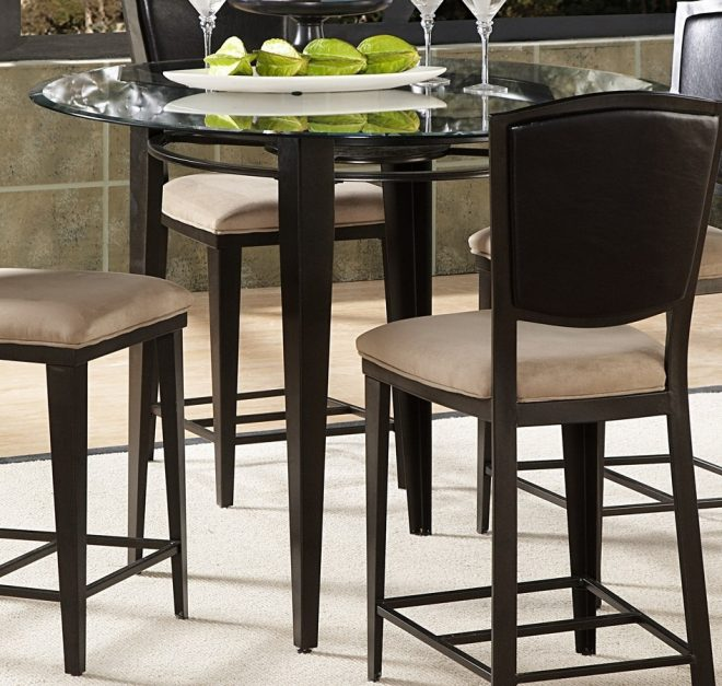 homelegance rockdale counter height dining table with 45in round