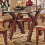 homelegance star hill dining table glass top 5316 72