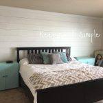 how to build a shiplap wall in a master bedroom for 100 keeping