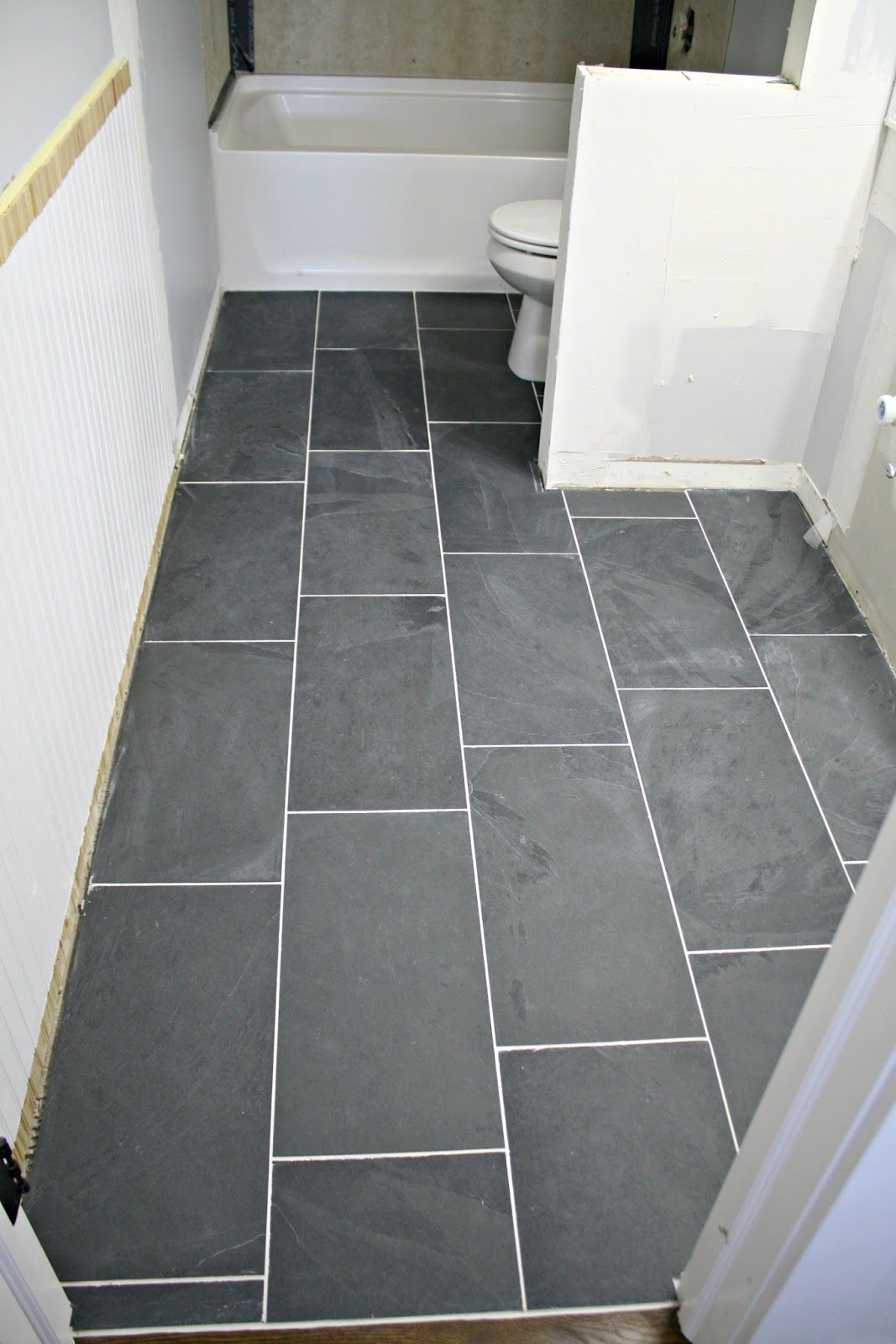 how to tile a bathroom floor its done diy home improvements