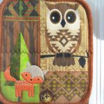 kitchen towels oven mitt owl fox decor embroidered quilted