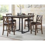 lasalle 46 inch square counter height dining set greyson living