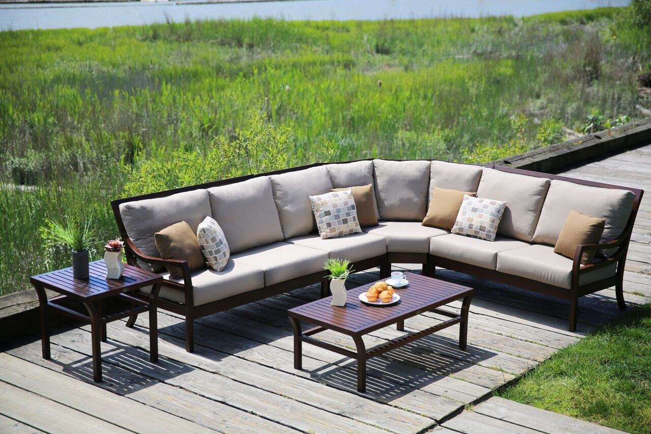 madison 3 piece outdoor sectional