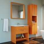 mare collection joly 40 inch veneer light oak single sink country