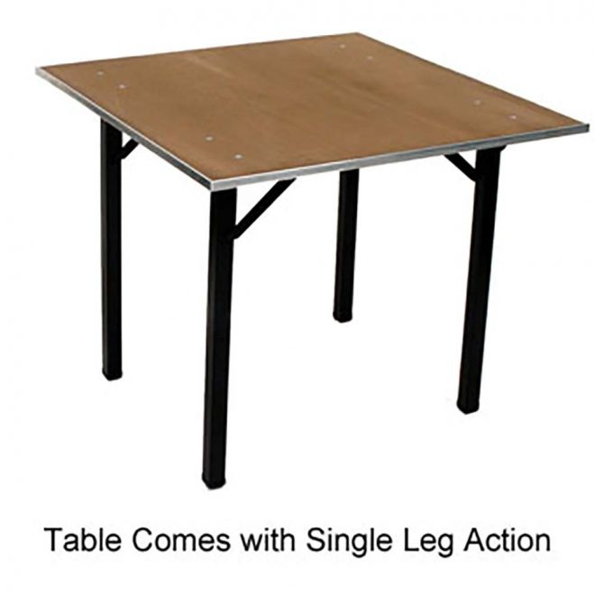 maywood dporig42sq folding table 42 square x 30 plywood top
