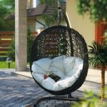 modway outdoor cocoon patio swing chair swingchair
